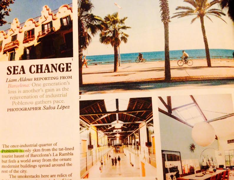 """Poblenou (Barcelona) """"a place I would be happy to call home"""", says Monocle magazine"""